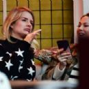 Lottie Moss at the Bluebird Cafe on the Kings Road in Chelsea - 454 x 307