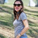 Jennifer Garner at baseball game in Brentwood