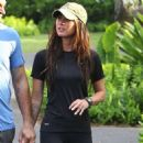 Megan Green hits the gym with her husband in Hawaii June 29th 2010
