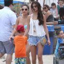 Selena Gomez & Francia Raisa enjoying a day on the beach in Malibu, California on June 23