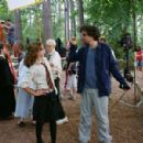Emma Watson and director Alfonso Cuaron on the set of 'Harry Potter and the Prisoner of Azkaban.'