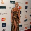 Amber Rose and Wiz Khalifa  arrive at Clive Davis and the Recording Academy's 2012 Pre-GRAMMY Gala and Salute to Industry Icons Honoring Richard Branson held at The Beverly Hilton Hotel in Beverly Hills, California - February 11, 2012 - 434 x 594