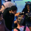 Ariana Grande and her Fiance Pete Davidson at Disneyland - 454 x 455