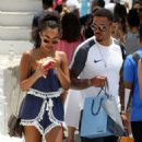 Leigh-Anne Pinnock and boyfriend Andre Gray out in Mykonos