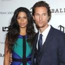 "Camila Alves and Matthew McConaughey: Cinema Society with Bally & DeLeon hosted screening of LD Entertainment's ""Killer Joe"" at the Tribeca Grand Hotel in New York City"