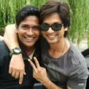 Shahid Kapoor on the sets for Kunal Kohl's
