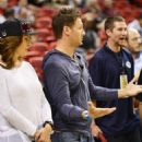Juan Pablo Galavis attends a Miami Heat basketball game with friends on December 17, 2014 in Miami, Florida - 454 x 557