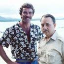 Tom Selleck and John Hillerman in Magnum P.I.