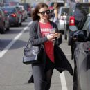Lily Collins Leaves workout in Beverly Hills - 454 x 632