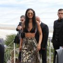 Chanel Iman Fendi By Karl Lagerfeld At Croisette In Cannes