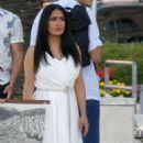 Salma Hayek and Owen Wilson – Filming their upcoming movie 'Bliss' in Croatia