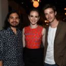 Actors Carlos Valdes, Danielle Panabaker and Grant Gustin attend the CW Network's 2015 Upfront party at Park Avenue Spring on May 14, 2015 in New York City