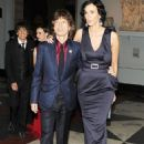 Mick Jagger and L'Wren Scott attend the