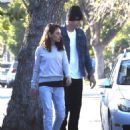 Mila Kunis and Ashton Kutcher – Out for a walk in Los Angeles - 454 x 568