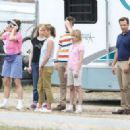 """Jennifer Aniston and Emma Roberts on the set of """"We're the Millers"""" on location in Wilmington, North Carolina (July 25)"""