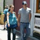Jennifer Love Hewitt And Ross McCall Walk On The Streets Of Burbank, June 28 2008