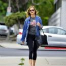 Emily VanCamp in Tights out in Los Angeles - 454 x 506