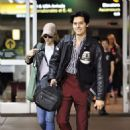Lili Reinhart and Cole Sprouse- Arriving Back in Vancouver 01/10/2018 - 454 x 470