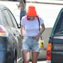 Bella Thorne in Denim Shorts out in Los Angeles - 454 x 749