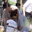 Kourtney Kardashian: spent the day in Calabasas