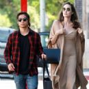 Angelina Jolie and her son Pax at Perch restaurant in Los Angeles
