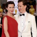 Benedict Cumberbatch and his wife Sophie Hunter - February 22, 2015 - Arrivals at the 87th Annual Academy Awards - 431 x 600