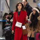 Emmy Rossum with husband Sam Esmail – Arrives at JFK Airport in NYC - 454 x 681