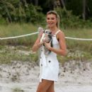 Samantha Hoopes – Arriving at the Sports Illustrated Swimsuit Soccer Event in Miami - 454 x 690