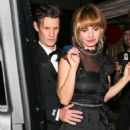 Matt Smith and Lily James at Poppy for a Golden Globes After Party in LA - 454 x 681