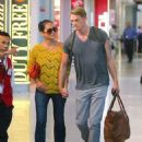 Olivia Munn with Joel Kinnaman: at JFK Airport in New York City