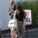Selena Gomez stops for lunch at Kabuki with a friend on June 10, 2013 in Encino, California - 454 x 617