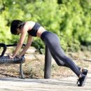 Kat Graham – Out jogging in Los Angeles