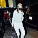 Kendall Jenner – Dons Yeezy sweat suit while arriving in New York
