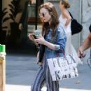 Lily Collins – Out in Barcelona