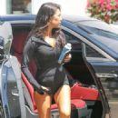 Kourtney Kardashian in Shorts Arrives at a Local Studio in LA - 454 x 679