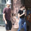 Lizzy Caplan and Tom Riley – Shopping in Beverly Hills - 454 x 681