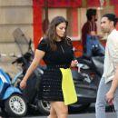 Ashley Graham in Mini Skirt – Leaving her hotel in Paris - 454 x 385