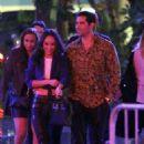 Cara Santana and Jesse Metcalfe at the Aubrey & the Three Migos concert in LA