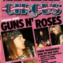 W. Axl Rose, Slash, Izzy Stradlin, Duff McKagan, Steven Adler - Circus Magazine Cover [United States] (30 April 1989)