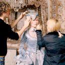Kirsten Dunst behind the scene of Marie Antoinette - 2006