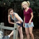 Jenna Fischer and Angela Kinsey Jogging