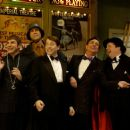 (L to R) Roger Bart as Carmen Ghia, Will Ferrell as Franz Liebkind, Matthew Broderick as Leo Bloom, Gary Beach as Roger De Bris and Nathan Lane as Max Bialystock.