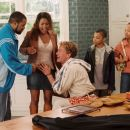 (left to right) Ice Cube, Nia Long, John C. McGinley, Philip Daniel Bolden, and Aleisha Allen star in Columbia Pictures'/Revolution Studios' Are We Done Yet?. Photo Credit: Rob McEwan. © 2007 Revolution Studios Distribution Company, LLC.  All righ