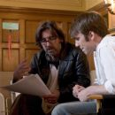 Director Griffin Dunne and Chris Evans on the set of Fierce People. Photo credit: Bob Akester