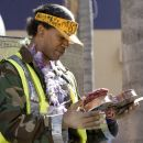 Nathaniel Ayers (Jamie Foxx), a former musical prodigy turned homeless man, in the drama 'The Soloist.' Photo Credit: Francois Duhamel. Copyright (c) 2009 DW STUDIOS L.L.C. and UNIVERSAL STUDIOS. All rights reserved.