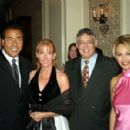 Master of Ceremonies John Quiñones, anchor and correspondent, PrimeTime Live and ABC News with his wife Nancy, NAHJ ex-officio and columnist for the New York Daily News Juan González and Univisión anchor María Elena Salinas. - 400 x 299