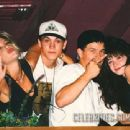 Shannen Doherty, rapper Marky Mark (Mark Wahlberg), Tori Spelling and Brian Austin Green at Roxbury, L.A., September 1992 - 454 x 340