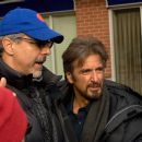 Director Jon Avnet (left) and Al Pacino on the set of TriStar Pictures' thriller 88 MINUTES. Photo By:  Chris Helcermanas-Benge. © 2008 Columbia Pictures Industries, Inc. and GH Three LLC All rights reserved.