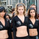 AnnaLynne McCord (center), Smith Cho (center left) and Nicole Tubiola (center right) in Screen Gems' comedy FIRED UP. Photo credit: Suzanne Tenner. © 2009 Screen Gems, Inc.  All rights reserved.