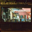 "The Be Kind Rewind Video & Thrift Store, with (left to right) Melonie Diaz as ""Alma"", Danny Glover as ""Mr. Fletcher"", Mos Def as ""Mike"" and Jack Black as ""Jerry"" from New Line Cinema's upcoming release"